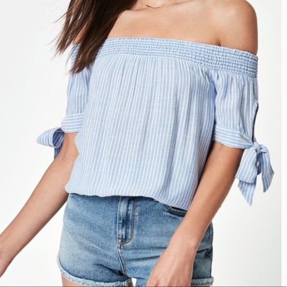 Kendall & Kylie Tops - Kendall and Kylie off the shoulder top